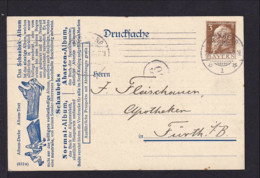 3 Pf. Privat Ganzsache - Schaubek Album - Gebraucht - Bavière