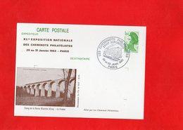 F0706 - Exposition Nationale Des Cheminots Philatélistes 28 Au 31 Janvier 1983 - PARIS - Exhibitions