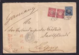"1908 - Brief Mit Konsulatsstempel ""Formosa"" Via TSURUNGA Nach Leipzig - 1888 Provincia China"
