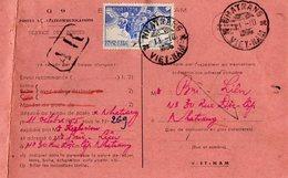 TB 2550 - INDOCHINE - VIETNAM - Avis Postal - MP NHATRANG 1955 - Viêt-Nam