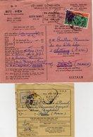 TB 2552 - INDOCHINE - VIETNAM - Avis Postal & Récépissé - MP NHATRANG 1960 Pour PARIS ( France ) - Viêt-Nam