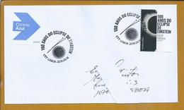 Total Solar Eclipse. Einstein's Eclipse 1919. Circulated Letter Urgent Mail 100 Years Eclipse. Totale Zonsverduistering. - Sterrenkunde