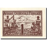 Billet, French West Africa, 1 Franc, 1944, 1944, KM:34b, SPL+ - West-Afrikaanse Staten