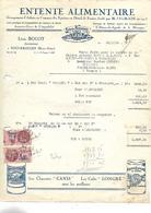 Facture 1939 / 70 FOUGEROLLES / Entente Alimentaire / L. BOLOT /Chicorée CANIS Petite Synthe 59 & Cafés LONGRE Le Havre - France