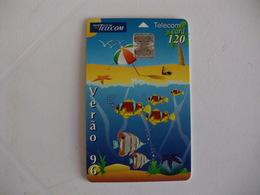 Phonecard Telécarte Telecom Card Verão 96 - 120 Impulsos Portugal - Portugal