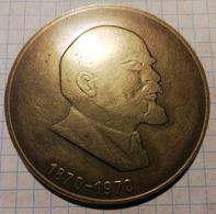Latvia USSR 1970 Riga, Lenin, Medal 6 Cm - Other