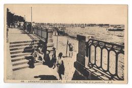 Andernos-les-Bains. Les Escaliers De La Plage Et La Passerelle. - Andernos-les-Bains