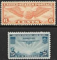 US  1934-5  Sc#C19   6c   Airmail  MNH & #C20 25c MNH  2016 Scott Value $4.90 - 1b. 1918-1940 Unused