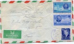 IRAN THEME DE GAULLE LETTRE PAR AVION DEPART ?-?-? POUR LA FRANCE - De Gaulle (General)