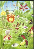 V) 2005 FRANCE, FLOWERS, ORCHIDS, SOUVENIR SHEET, MNH - France
