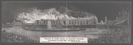 Brussel / Bruxelles - Panorama Du Terrible Incendie De L'Exposition Universelle 1910 - Carte Double - Expositions Universelles