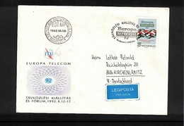 Hungary / Ungarn 1992 Europa Telecom Interesting Cover FDC - Telekom