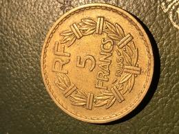 293/5 Francs- Type Lavrillier - 1945 C Etat Correct Voir Photo - J. 5 Francs