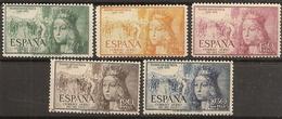 España Edifil 1097/1101**Mnh  Serie Completa Centen.Isabel Católica  1951 NL1330 - 1951-60 Nuevos & Fijasellos