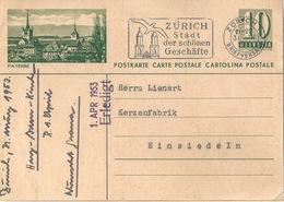 """PK 182  """"Payerne""""           1953 - Postwaardestukken"""