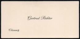 C6044 - Chemnitz - Gertrud Richter - Visitenkarte - Visitenkarten