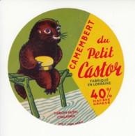 Etiquette De Fromage Camembert Du Petit Castor - Thirion Hutin - Chalaines - Cheese