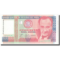 Billet, Pérou, 50,000 Intis, 1988, 1988-06-28, KM:142, NEUF - Pérou