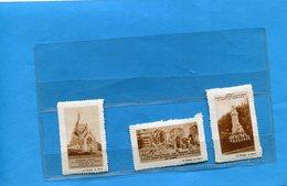 FRANCE*-  ERINNOPHILIE-3 Vignettes De La Marne Dont Dom  PERIGNON--assemblage Des Raisins-CHAMPAGNE- - Commemorative Labels