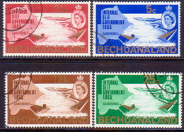 1965 BECHUANALAND Protectorate SG 186-89 Compl.set Used New Constitution - Bechuanaland (...-1966)
