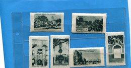 FRANCE  ERINNOPHILIE-6 Vignettes Sites De Françe Manosque-2+la Capelle+espalion-biarritz+lamalgue - Commemorative Labels
