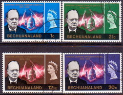 1966 BECHUANALAND Protectorate SG 194-97 Compl.set Used Churchill - Bechuanaland (...-1966)