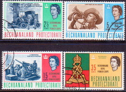 1966 BECHUANALAND Protectorate SG 198-201 Compl.set Used Royal Pioneer Corps - Bechuanaland (...-1966)