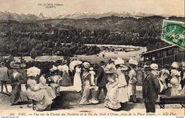 D64   PAU   Vue Sur La Chaine Des Pyrénées Et Le Pic Du Midi D'ossau, Prise De La Place Royale  ..... - Pau