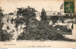 D64   PAU   La Rue Du XIV Juillet  ..... - Pau