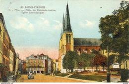 D64   PAU   Place Du Palais De Justice, Eglise Saint-Jacques  ..... - Pau