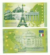 BILLET TOURISTIQUE EUROSYMBOLES ROME/ITALIE THEME CAPITALES EUROPEENNES NEUF SUPERBE - EURO