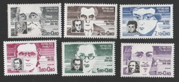 France Neuf Sans Charnière 1963 Série Complète Célébrités Ecrivain Philosophe Mathématicien YT 2328 à 2332 - Celebridades