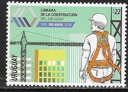 URUGUAY, 2019, MNH,CONSTRUCTION, WORKERS, CRANES, 1v - Jobs