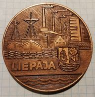Latvia USSR Liepaja, Ship Ships, Medal 6 Cm - Other