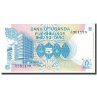 Billet, Uganda, 5 Shillings, KM:10, NEUF - Ouganda
