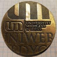 Poland Polska 2010 65 Years Of University Uniwersytet Medyczny W Lodzi Lodz,  Medal 6 Cm, Medicine - Other