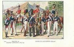 """4106 """"ESERCITO LUCCHESE -ILLUSTRAZIONE N° 13 DI QUINTO CENNI"""" CARTOLINA POSTALE ORIGINALE NON SPEDITA - Uniformi"""