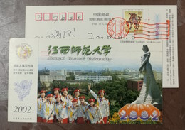 Music Instrumen,trumpet,female Orchestra,China 2002 Jiangxi Normal University Advertising Pre-stamped Card - Music