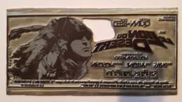 PLAQUE METAL PUBLICITAIRE FILM  LE LION DU DESERT 1980 - Plaques Publicitaires