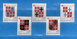 (Mn1) SMOM ** - 1979 - STEMMI. UNIF. 170 à 174  5 Valori.    Vedi Descrizione. - Sovrano Militare Ordine Di Malta