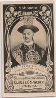 Portugal - Porto - Kuang Ssu Empereur Chine - Claus & Schweder Ach. Brito - Brinde Sabonete - Circa 1887 Rare Soap Card - Publicités