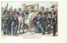 """4116 """"ESERCITO ITALIANO -ILLUSTRAZIONE N° 23 DI QUINTO CENNI"""" CARTOLINA POSTALE ORIGINALE NON SPEDITA - Uniformi"""