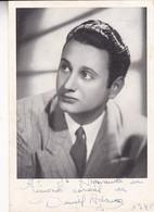 TANGO CANTOR DANIEL ADAMO YEAR 1948 AUTOGRAPHE ORIGINAL SIZE 11x16cm - BLEUP - Autographes
