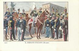"""4117 """"R.ESERCITO ITALIANO -ILLUSTRAZIONE N° 24 DI QUINTO CENNI"""" CARTOLINA POSTALE ORIGINALE NON SPEDITA - Uniformi"""