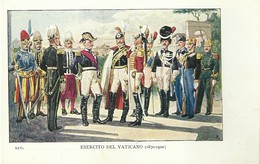 """4118 """"ESERCITO DEL VATICANO-ILLUSTRAZIONE N° 25 DI QUINTO CENNI"""" CARTOLINA POSTALE ORIGINALE NON SPEDITA - Uniformi"""