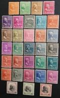 Estados - Unidos: Año. 1938 - Serie Completa. */ Lujo - 32/Val. ( Presidentes. Dent, 11X10-1/2 - ). - Unused Stamps