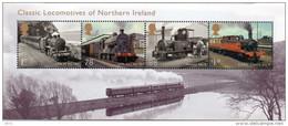 GREAT BRITAIN 2013 Classic Locomotives Of Northern Ireland M/S - Blocks & Miniature Sheets