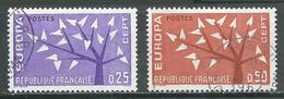 France YT N°1358/1359 Europa 1962 Oblitéré ° - Europa-CEPT