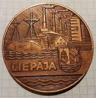 Latvia USSR 1976 Liepaja, Ship Ships, Medal 6 Cm - Other