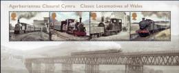 GREAT BRITAIN 2014 Classic Locomotives Of Wales M/S - Blocks & Miniature Sheets